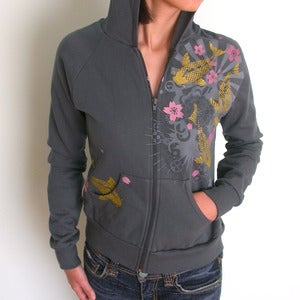 Image of SALE Gold Koi hoodie womens only Small