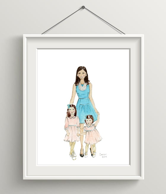 Image of CUSTOM WATERCOLOR PORTRAITS (MULTIPLE SUBJECTS)