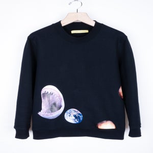 Image of Raf Simons x Sterling Ruby - Shark/Earth Sweatshirt