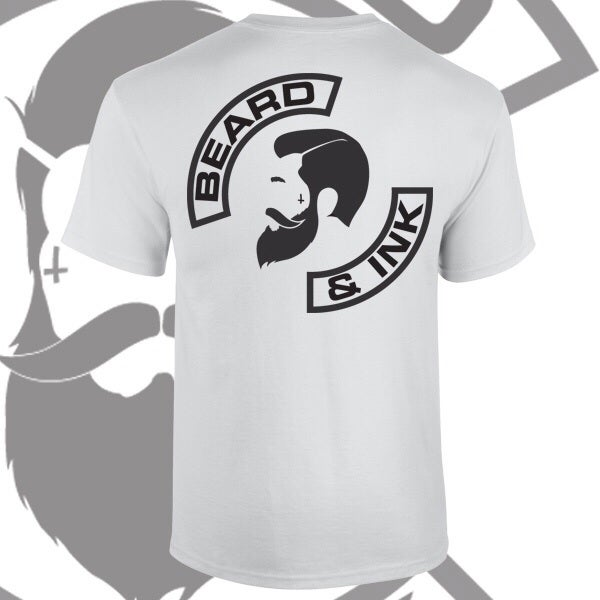 Image of Beard & Ink Rear Side Logo Tee.
