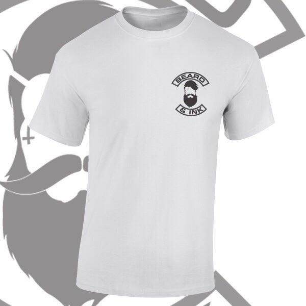 Image of Beard & Ink Rear Logo Tee.