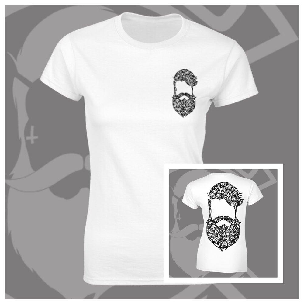 Image of Beard & Ink Rear Large Patterned Logo Tee