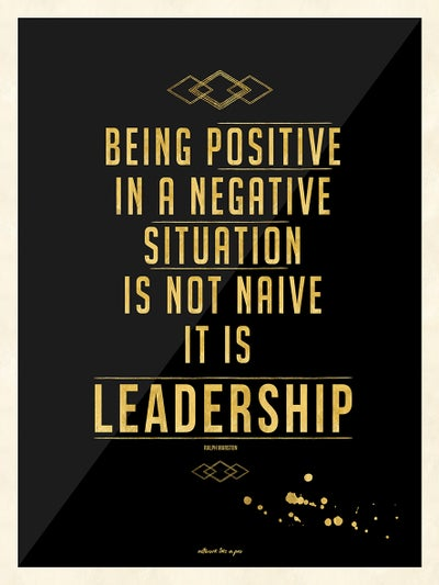 Image of BEING POSITIVE IN A NEGATIVE SITUATION... - UV Fine Art Print