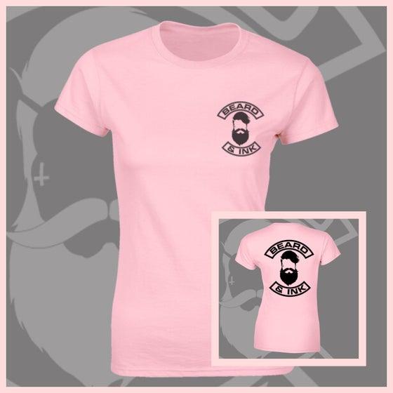 Image of Baby Pink Beard & Ink Rear Logo Tee.