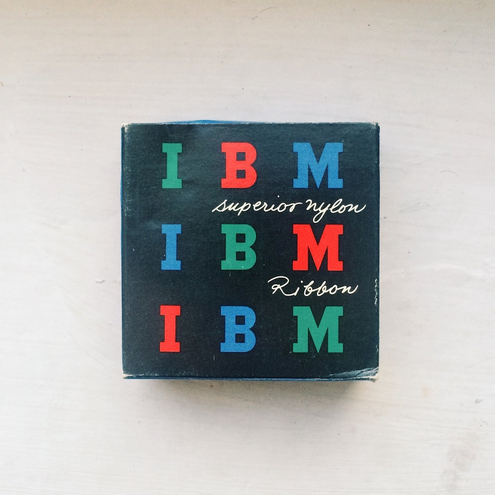 Image of IBM Typewriter Ribbon (Paul Rand design)