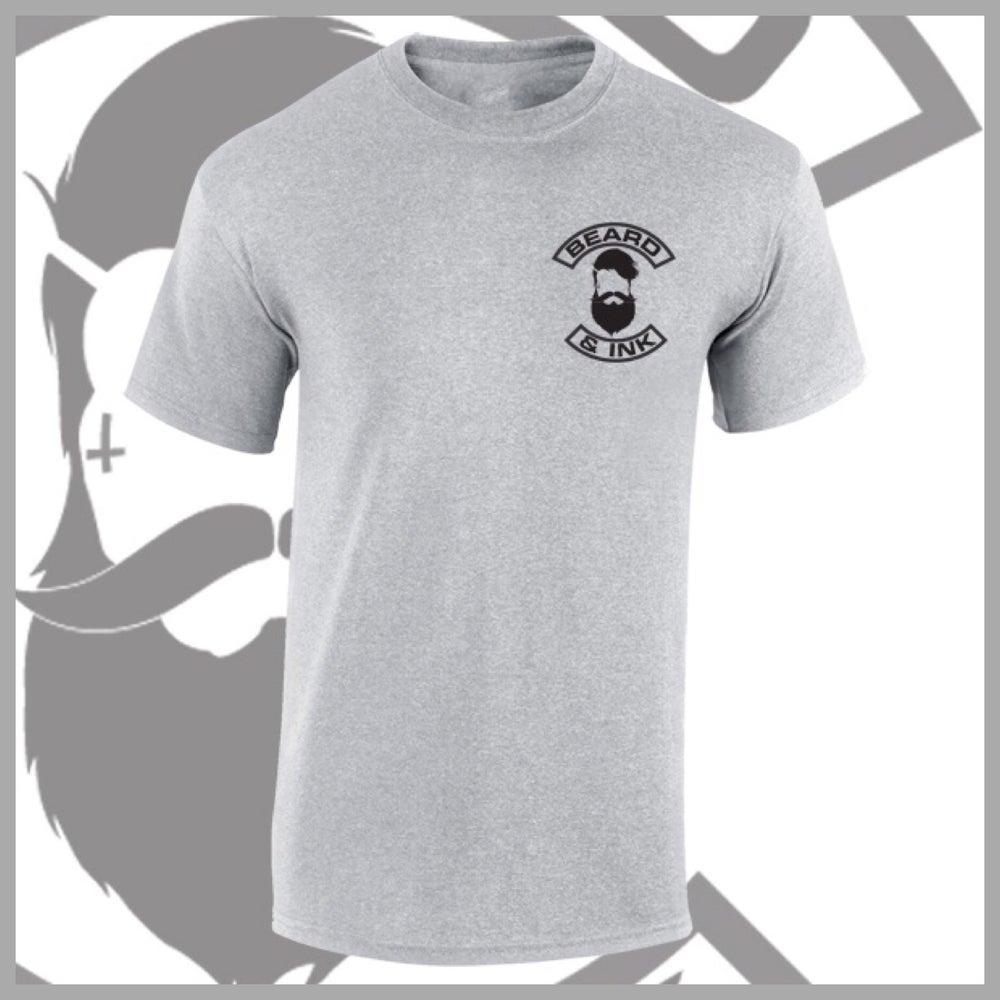 Image of Grey Beard & Ink Rear Logo Tee.