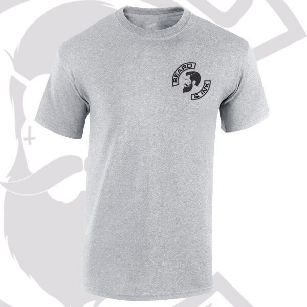 Image of Grey Beard & Ink Rear Side Logo Tee.