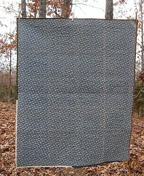 "Image of lap quilt - 48""x40"" - framed square design - farmhouse quilts"