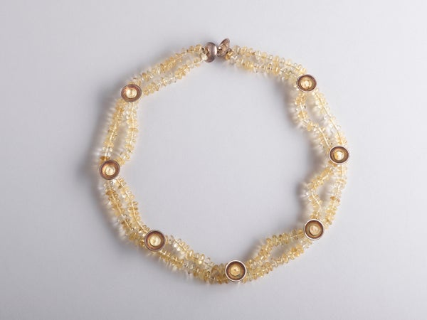Image of necklace silver citrine