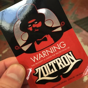 Image of Warning! Under the Protection of Zoltron® Stickers (5)