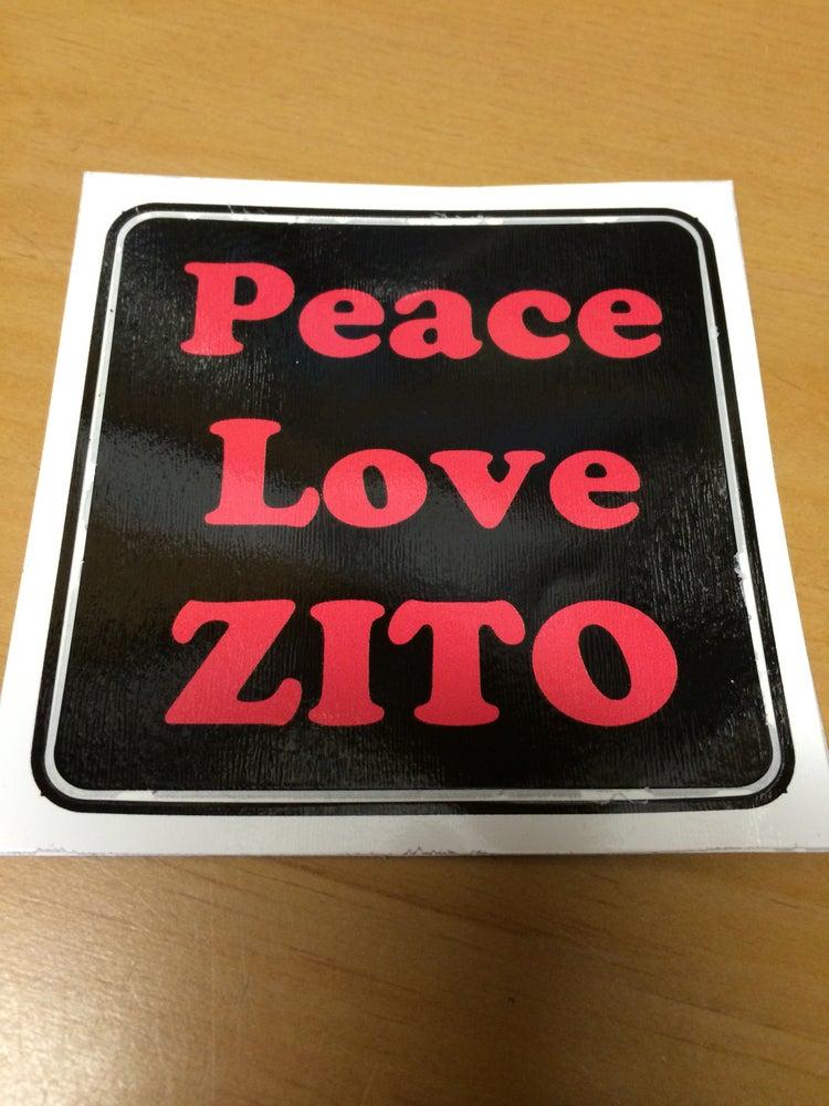 Image of Peace Love Zito sticker