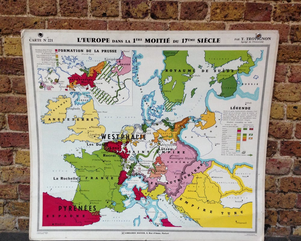 Image of 1970s Map of Europe in the C17th
