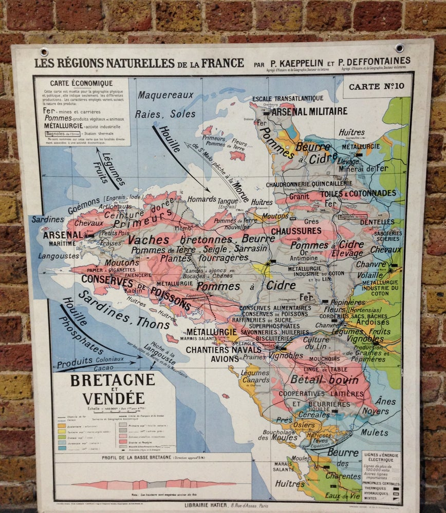 1960s Map of Brittany and Vende   retroMaps