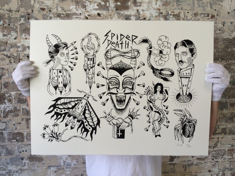 Image of SpiderXdeath flash sheet print edition