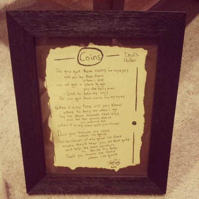 Image of Devil's Holler Lyric Frame with CD