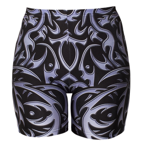 Image of TRIBAL BLACK BIKER SHORT 25% OFF