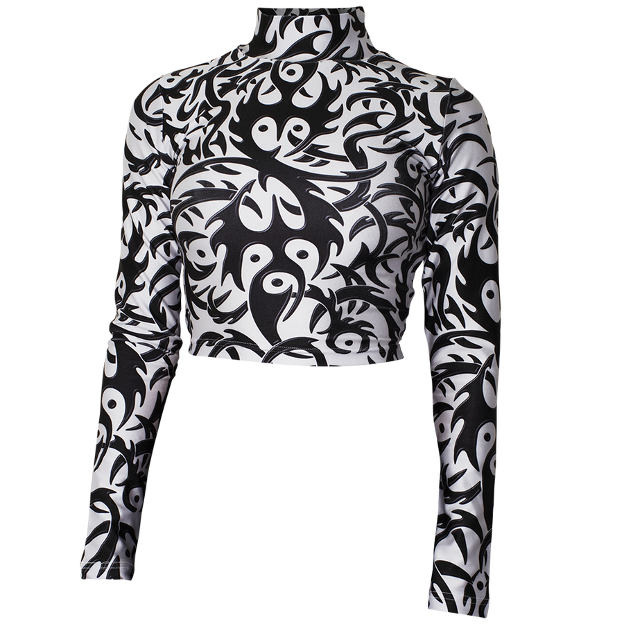 Image of TRIBAL WHITE TURTLENECK 25% OFF