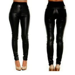 Image of Faux Leather High Waist Leggings