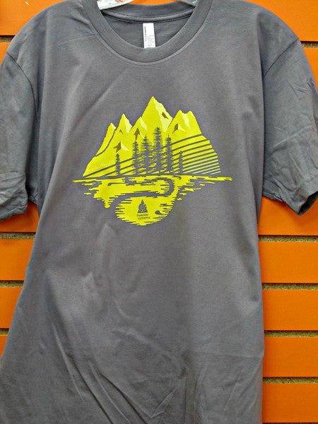 Image of Made in Colorado T-Shirt  Gray/Yellow Mtns