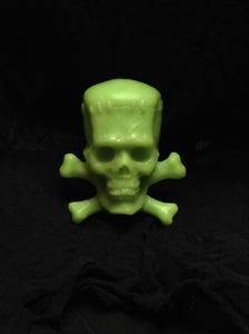 """Image of Lime Green """"Frankenskull"""" magnet"""