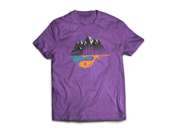 Image of Made in Colorado T-Shirt with Todd Nieber Design Eggplant