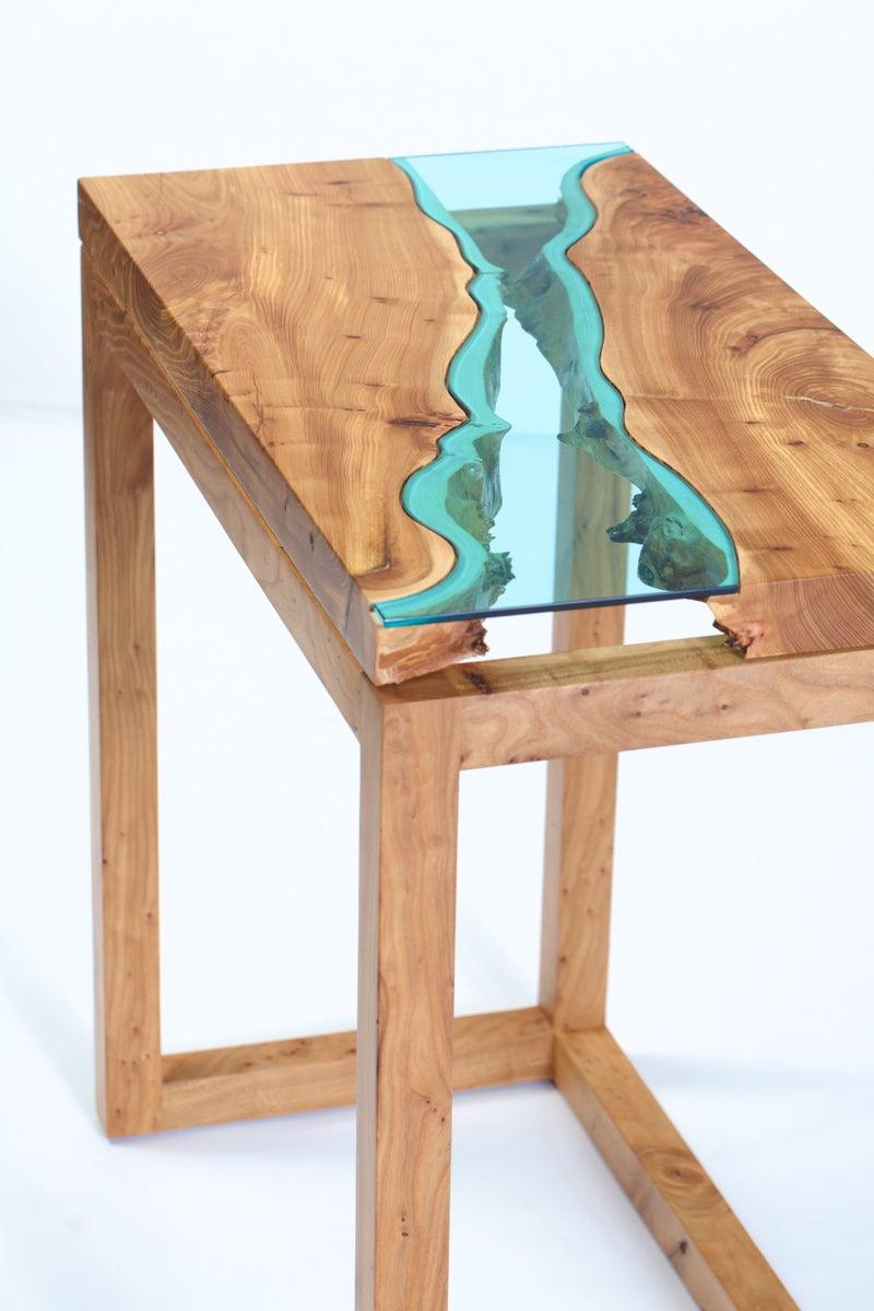 Elm river entry table greg klassen - Table moderne bois massif ...