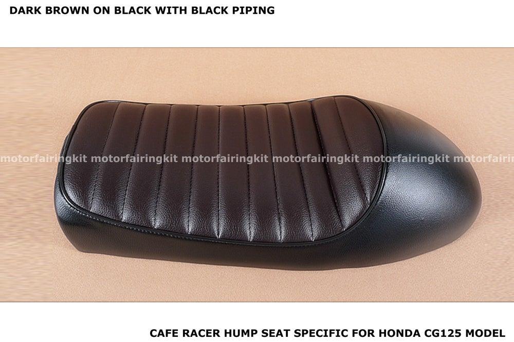 Image of Honda CG125 Seat - Classic Hump Seat