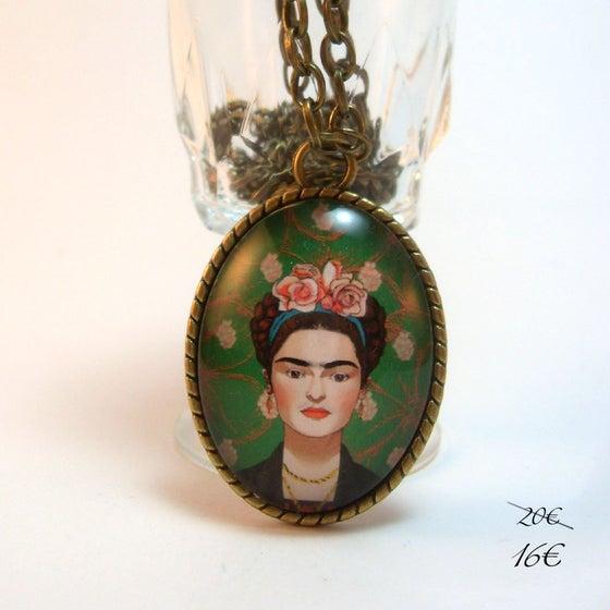 """Image of Colgante ilustrado """"Frida"""""""