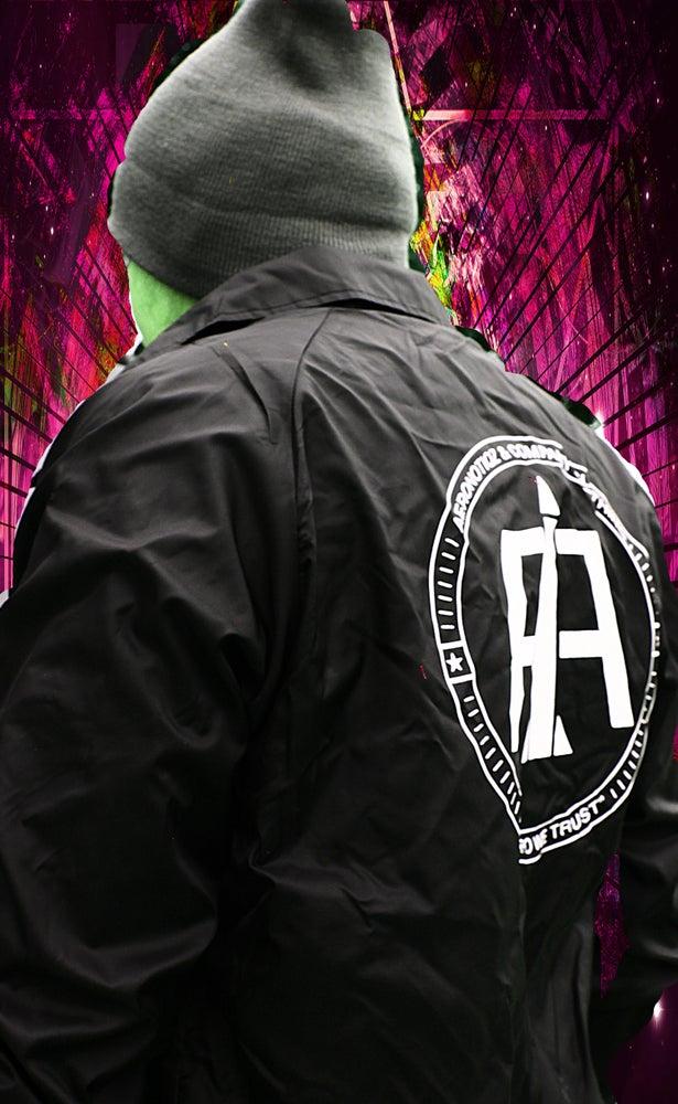 Image of Black Aeronotiqz Coach Jacket