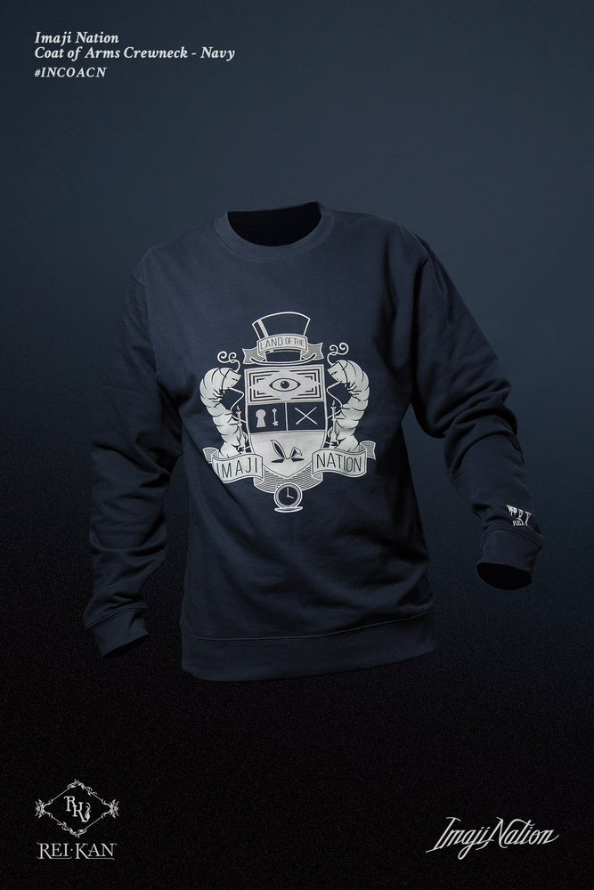 Image of Imaji Nation Coat of Arms Crewneck