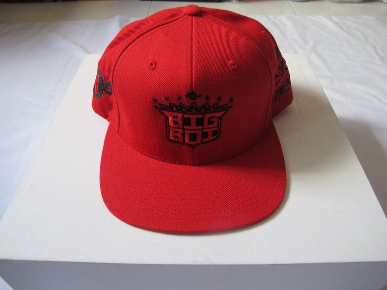 Image of SSUR x BIG BOI - Logo Snapback (Red)