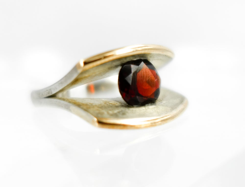 Image of Contemporary garnet ring