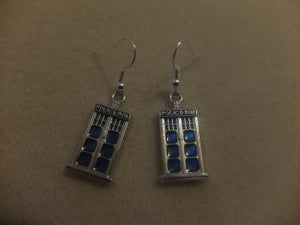 Image of Dr Who Tardis/Police Box Earrings