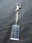 Image of Dr Who Tardis/Police Box Bag Charm/Keyring