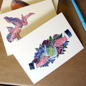 Image of Valentines cards, set of 3 folded cards, Alla hjärtans dags kort, 3 styck
