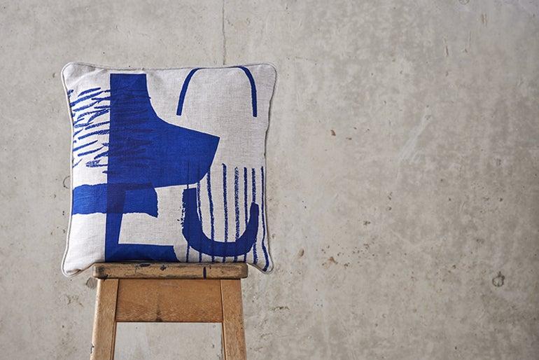 Image of 'Assemble / Configure' Cushion - Cobalt Blue ~ 45 x 45