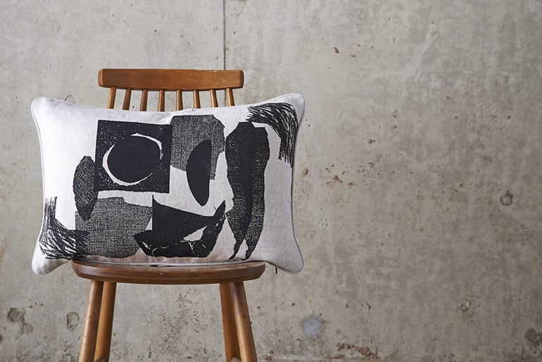 Image of 'Collagraph' Collage Cushion
