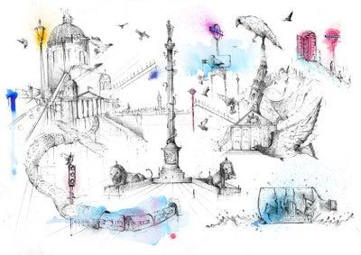 Image of Trafalgar Square - Limited Edition Print