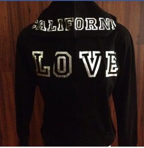 Image of Ladies - California Love Zip up hoody Silver