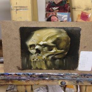 "Image of 5x5"" sepia skull"