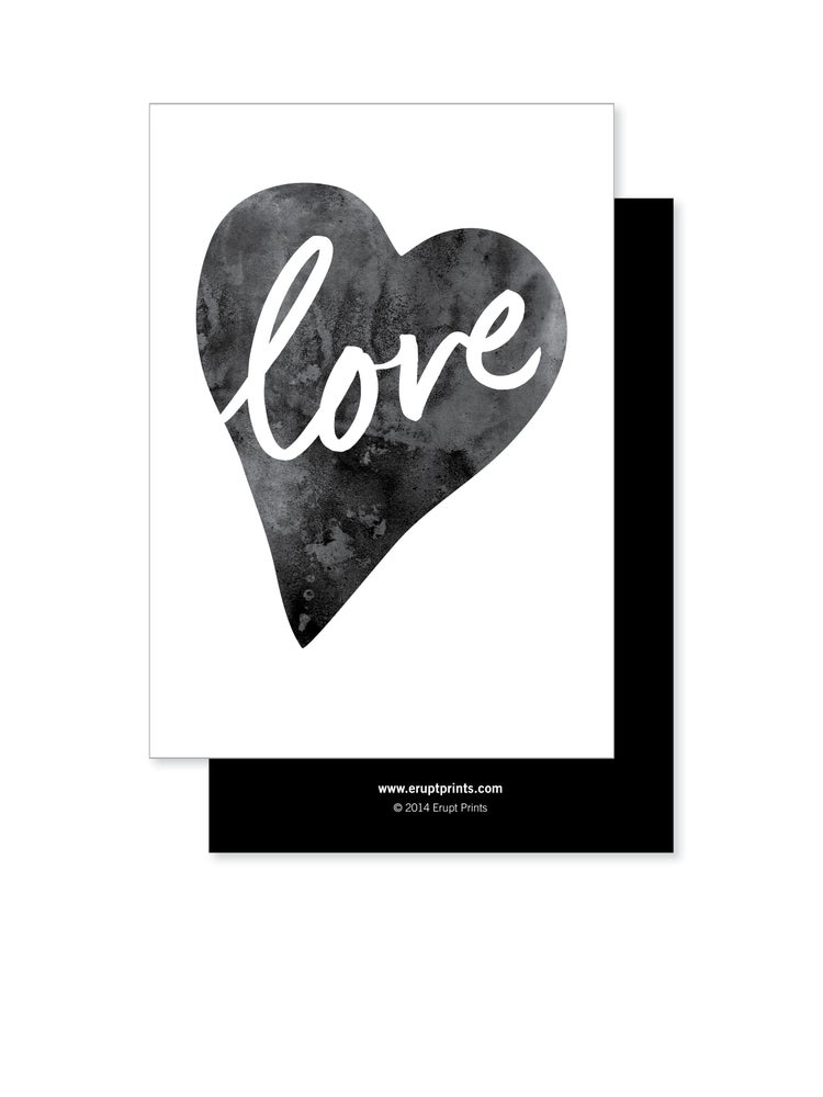 Image of Greeting Card - Love Heart - Black