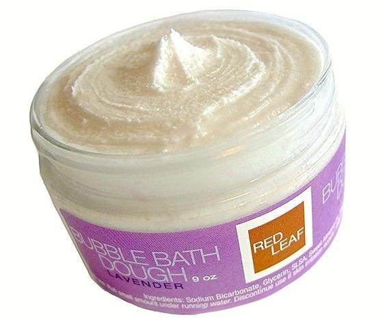 Image of Red Leaf Bubble Bath Dough An All Natural Vegan Bubble Bath