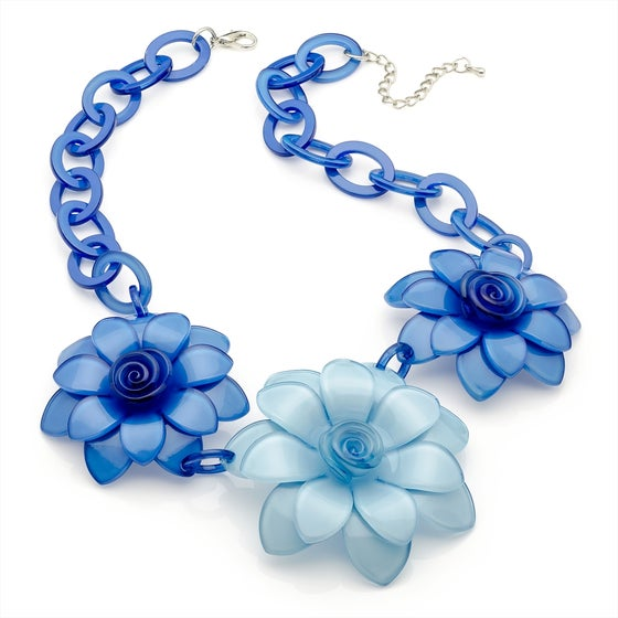 Image of  Acrylic Flower Statement Necklaces
