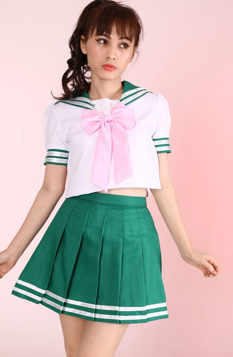 Image of PRE ORDER - Sailor Jupiter Inspired 2 Piece Set