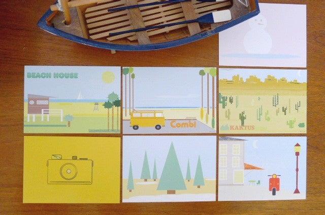 Image of SET D'ILLUSTRATIONS  - Set of illustrated cards