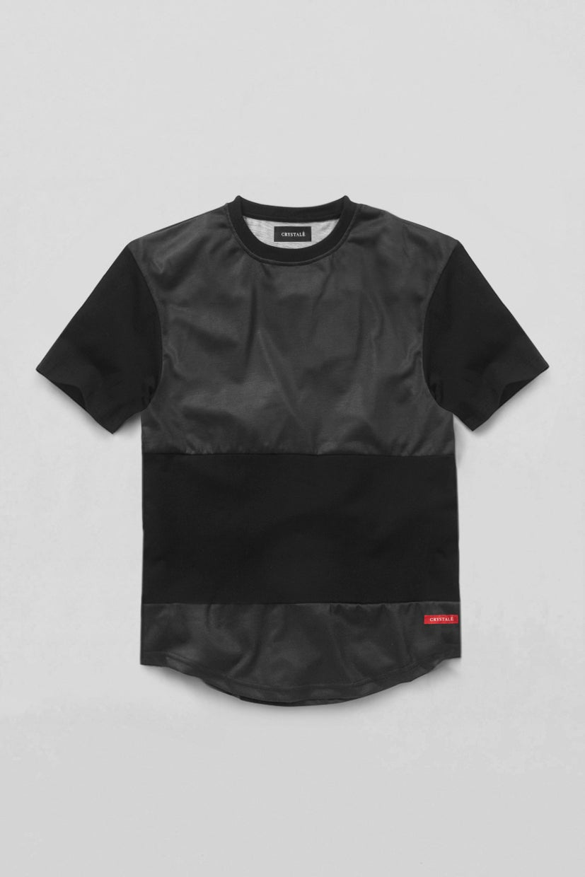 Image of Panelled T-Shirt in Black