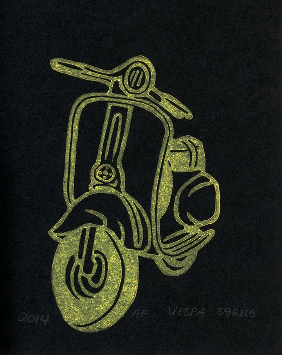 Image of Vespa Block Print