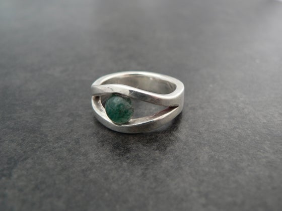 "Image of Aventurine ""eye"" ring"