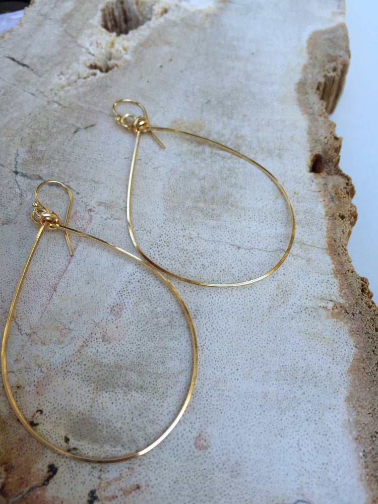 Image of Tear Drop Hoops