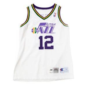Image of Champion John Stockton Utah Jazz Authentic Home Jersey
